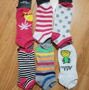 Other - Summer fun socks 6 pair Bundle